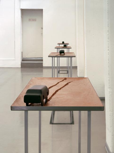 18a,-Auto-bahnen#1-5,-Installation-Rheinisches-Landesmuseum-Bonn,-2002